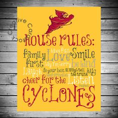 Iowa+State+Cyclones+House+Rules++8x10+by+CreativeCardstock+on+Etsy,+$12.50