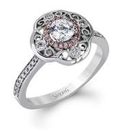 0cb3c5882e4 Simon G Halo Two Tone Gold Diamond Engagement Ring Unique Diamond  Engagement Rings