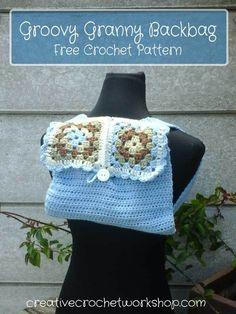 Groovy Granny Backbag | Creative Crochet Workshop | Free Crochet Pattern