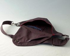 Purple Belt Bag : Hip Bag Fanny Pack by rocksandsalt on Etsy