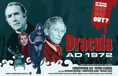 Christopher Lee & Peter Cushing  Dracula AD 1972  by DadManCult, $12.99