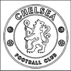 Chelsea Football Club Coloring Line Art Football Chelsea Coloriage Football Coloriage Foot