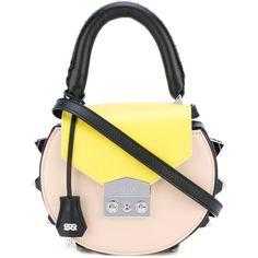 Salar circular studded crossbody bag ($427) ❤ liked on Polyvore featuring bags, handbags, shoulder bags, leather crossbody, studded crossbody, studded purse, crossbody handbags and studded leather purse