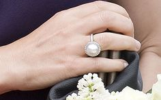 Crown Princess Mary Pearl Ring by Marianne Dulong Photo 2