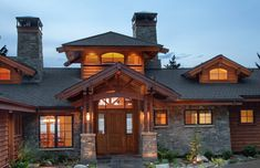 Mountain Lake Home Entry - asian - exterior - boise - Hendricks Architecture