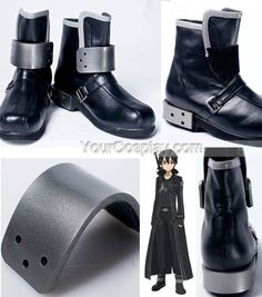 Kirito Cosplay Shoes Sword Art Online Kirito Cosplay Shoes, Cosplay Shoes…