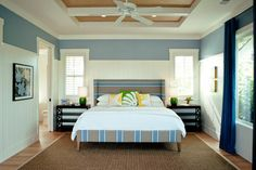 Maui Beach House - tropical - bedroom - hawaii - Heffel Balagno Design Consultants-Sherwin Williams Aleutian