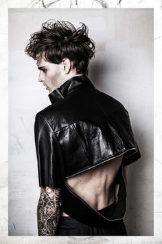 Dark Tattoo Filled Photography - This Men's Fashion Photography Series Features Plenty of Leather (GALLERY)