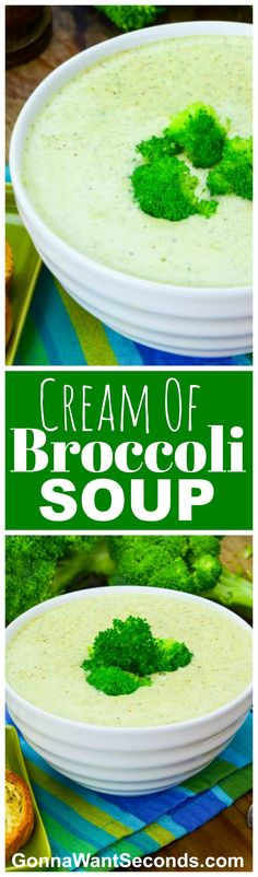 Easy Cream of Broccoli Soup is one of those thick, rich bowls of dunk-able goodness just waiting on a crusty loaf of bread and a hearty appetite.