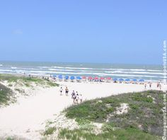 South Padre Island has such beautiful white sandy beaches.