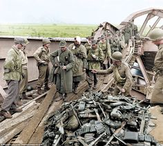 As the British and allied forces battered the Nazis into submission, the soldiers were lef...