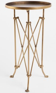 Honey We're Home: Frugal Find - Brass Side Table from Urban Outfitters