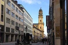 Theatiner Strasse with Theatiner Church/Kirche - Munich/ München, Germany/Deutschland