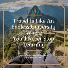 """""""Travel Is Like An Endless University Where You'll Never Stop Learning."""" (^_^) #KeepThatSameEnergy #FollowUs & #StayTuned For more updates \m/  #travel #instaquote #motivation #travelquote #travelgram #instatravelgram #instatraveler #instatrip #instatravel #startups #subscribe #photography #onlinetravelagency #traveltogether #tourists #memories #nature #explore #discover #ota"""