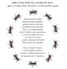 mravenčení na dobrou noc: