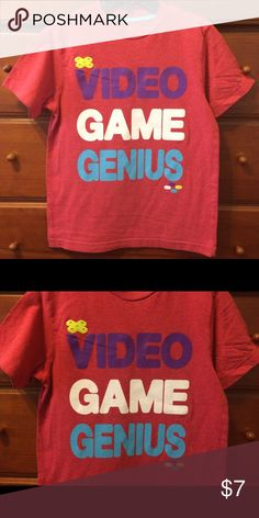 Boys Video Game T Shirt Excellent condition, Old Navy Sz M. 'Brushed cotton' red shade. Old Navy Shirts & Tops Tees - Short Sleeve
