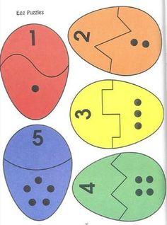 Eggs number Matching/ puzzles de Pâques - My Pin Preschool Learning, Kindergarten Math, Preschool Crafts, Crafts For Kids, Teaching, Toddler Learning Activities, Easter Activities, Preschool Activities, Montessori Toddler
