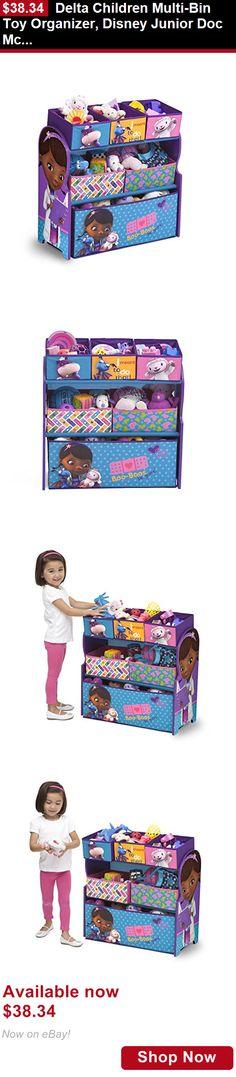 Baby Boxes And Storage: Delta Children Multi-Bin Toy Organizer, Disney Junior Doc Mcstuffins BUY IT NOW ONLY: $38.34