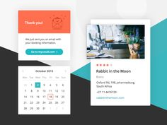 Dribbble - Booking widget by Maria Shanina