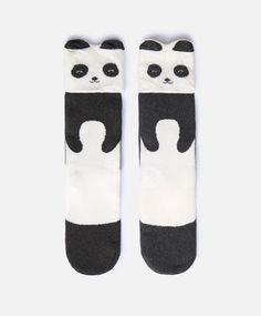 Chaussettes hautes panda - null - Dernières tendances Automne Hiver 2016 en mode…