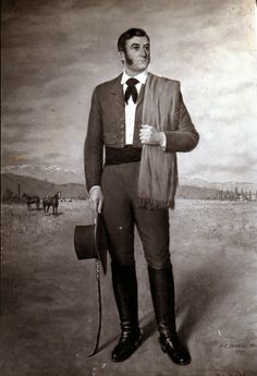 Pablo C. Ducros Hicken (1903-1969): San Martín - Retratos Rio Grande, Argentina Culture, Iguazu Falls, Folk Costume, S Man, Bruce Lee, European Fashion, Vintage Photography, Folklore