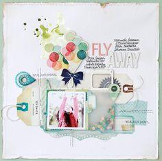 Michiko Kato for Crate Paper Crate Paper, Studio Calico, Papel Scrapbook, Baby Scrapbook, Mini Albums, Scrapbook Page Layouts, Layout Inspiration, Digital Scrapbooking, Creative