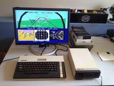 Atari 800XL playing F-15 Strike Eagle