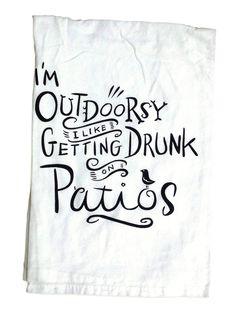 Sassy Tea Towels, I'm Outdoorsy