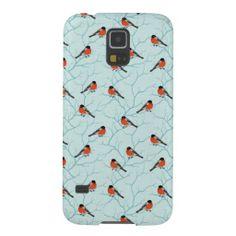 Winter Bird Pattern Case For Galaxy S5
