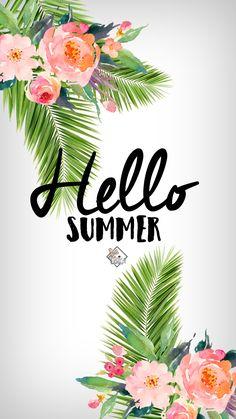Hello Summer Phone Wallpaper I Lisa Lisica ©.