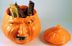 Halloween - Grumpkin Pumpkin Candy Jar - 3D Printed Plastic #Handmade3DPrint