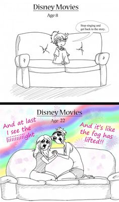Watching Disney Movies...
