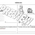Spanish Class Lesson Plans - GUSTA - Leisure Activity Verbs Quiz (FREE!)