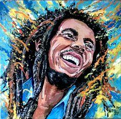 Portræt af Bob Marley