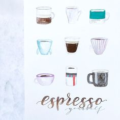 Keep espressoing yourself!  #coffee #caffe #espresso #espressoyourself #beyourself #barista #coffeepun #coffeelover #coffeequotes #quotesoftheday #lettering #letterart #handlettering #brushlettering #brushtype #calligraphy #moderncalligraphy #handwritten #handtype #watercolorlettering #watercolor #diy #handmade #print #letteringco #artprint Coffee Signs, Coffee Art, Coffee Ice Cream, Coffee Cocktails, Coffee Dessert, Italian Coffee, Coffee Quotes, Coffee Recipes, Barista