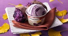 Gapanese purple potato ice cream *___*