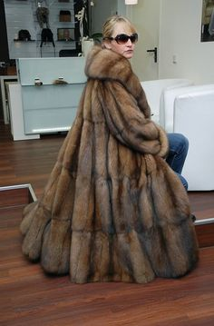 awesome long sable fur coat