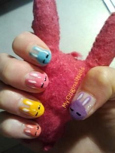 Rainbow Bunnies -MyOriginalnails