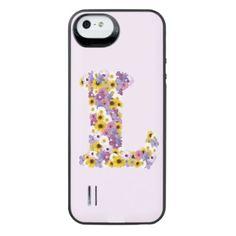 Monogram letter L iPhone SE/5/5s Battery Case - girl gifts special unique diy gift idea