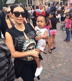 Kim Kardashian & North West at Disneyland -  July 8, 2015