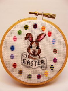 Easter Bunny Cross Stitch Pattern