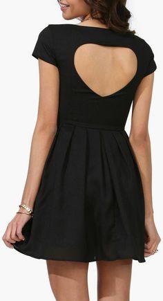 Heart Cutout Back Dress ♥ #lbd