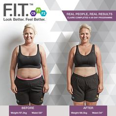 """F.I.T. CHALLENGE Claire's goal was to lose weight and improve overall health, fitness and wellbeing. Claire lost 8.7kg and 4"""" from her waist using the programme #IAmForeverFIT"""