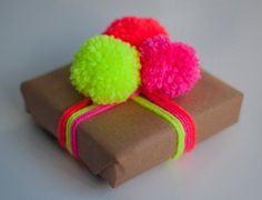 Handmade Neon/Fluorescent Coral/Orange Wool Pom Pom by NEONLDN