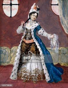 Kunst : Costume of Roxelane from comic opera, Three sultanas by Charles Simon Favart (1710-1792), France, 18th century