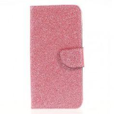 Samsung Galaxy J3 2017 pinkki glitter puhelinlompakko.