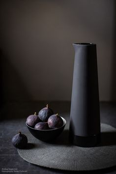 Styling Sania Pell, Photography Helen Cathcart for The Observer and John Lewis - I love the light coming from the side and the moody colours. I also the texture of the jug. / bywstudent
