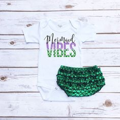 YiZYiF Baby Girls 1st Birthday Mermaid Shirt Romper with Ruffles Scales Bloomers Outfit Clothes Set
