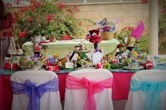Colorful Mad Hatter/Alice in Wonderland Inspired Party by Fairy Tale Tea Party.com