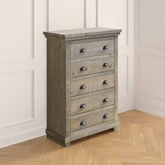 Amityville Armoire & Reviews | Joss & Main 5 Drawer Dresser, 5 Drawer Chest, Dresser With Mirror, Chest Of Drawers, Pine Wardrobe, Dovetail Drawers, How To Distress Wood, Joss And Main, Wood Colors